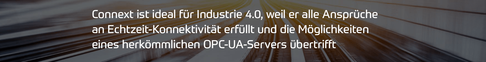Connext OPC UA Server Vorteile