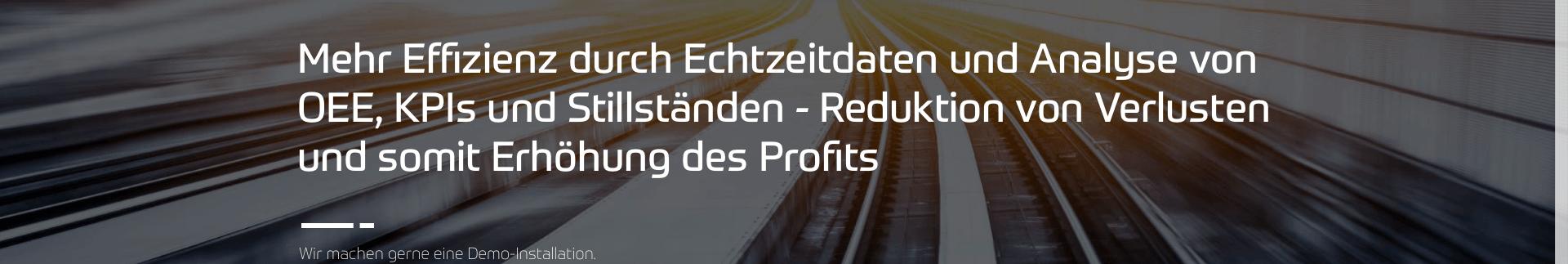 Pro.Lean mehr Effizienz mit Analysen von OEE KPI und Downtime