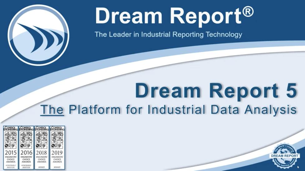 Dream Report für industrielle Daten analyse